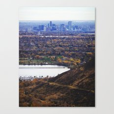 The Foothills of Denver Canvas Print