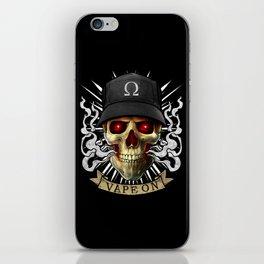 Vaping Skull - Vape On - Cloud Chaser - Vaper iPhone Skin