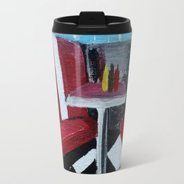 American Diner Impressionist Acrylic Fine Art Travel Mug
