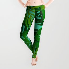 Jungle Leaves 1 Leggings