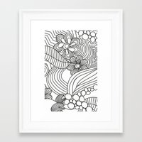 sketch Framed Art Prints featuring sketch by Natasha79