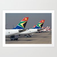 aviation Art Prints featuring African Aviation by William Whaley