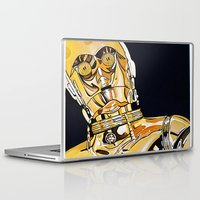 c3po Laptop & iPad Skins featuring C3PO by Laura-A