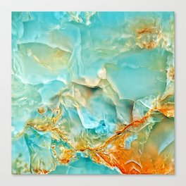Onyx - blue and orange Canvas Print