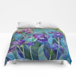 Fantasy Irises Comforters