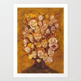 The Laid-Back Ones Tree / A Árvore dos Pacatos Art Print