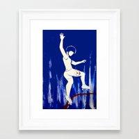 pivot Framed Art Prints featuring Brooklyn Bombshells by JezRebelle