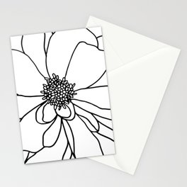 Flower drawing Stationery Cards