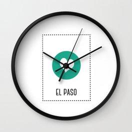 I Love El Paso Wall Clock