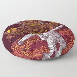 Killer bees on Mars. Floor Pillow