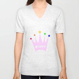 queer queen Unisex V-Neck