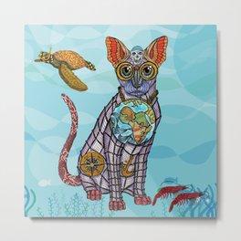 Sea Cat with friends Metal Print
