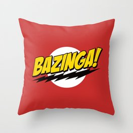 The Big Bang Theory - Bazinga  Throw Pillow