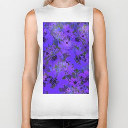 Heavenly Blue Garden Biker Tank