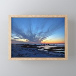 Cloud Streaks at Sunset Framed Mini Art Print