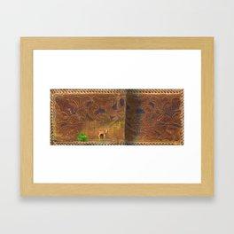 Deer Sheltering in the Storm Framed Art Print
