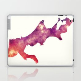New Orleans Louisiana city watercolor map in front of a white background Laptop & iPad Skin
