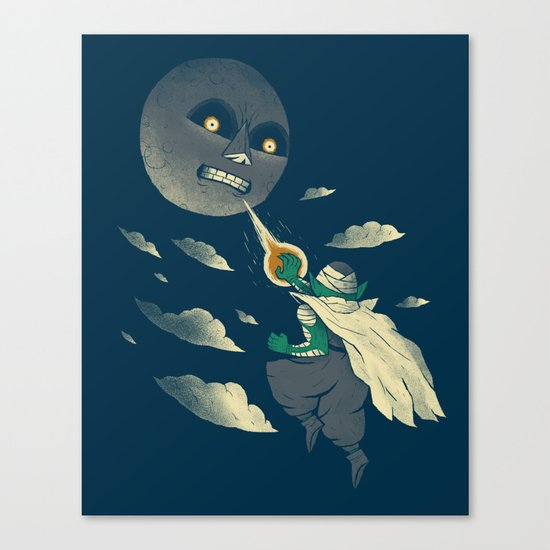 how to defeat the moon Canvas Print