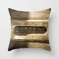 letters Throw Pillows featuring Letters by BD Photo