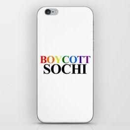 Boycott Sochi iPhone Skin