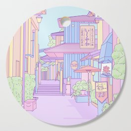Continuously Lost in Japan Cutting Board