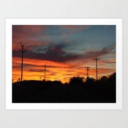 Country Sunset 2 Art Print