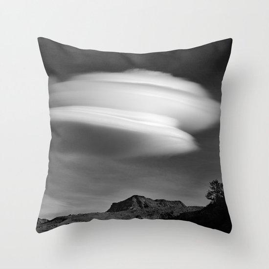 Lenticular Over Alcazaba 3315 Meters Throw Pillow
