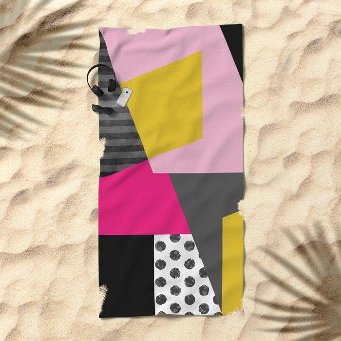 Geometric#13 Beach Towel