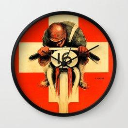 Grand Prix de Suisse, Race Poster, Vintage Poster, t-shirt Wall Clock