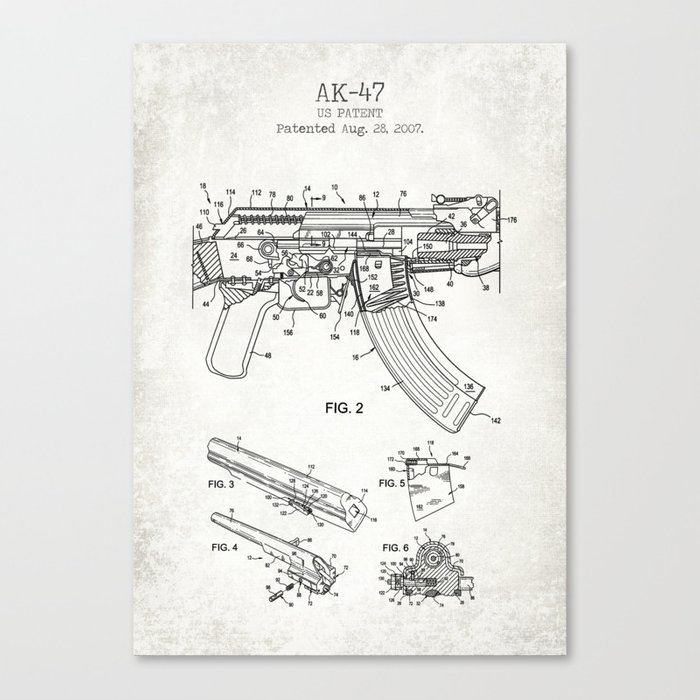 Ak 47 Old Canvas Poster Canvas Print By Muharko