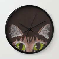 greg guillemin Wall Clocks featuring Greg by Addie