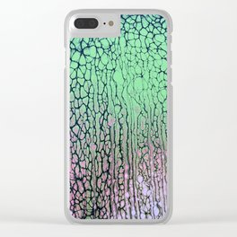 Colorful Daydreaming fluid art acrylic pouring Clear iPhone Case
