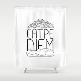 CATPE DIEM Shower Curtain