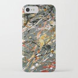 Jackson Pollock Interpretation Acrylics On Canvas Splash Drip Action Painting iPhone Case