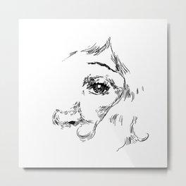 Drawing eye Metal Print