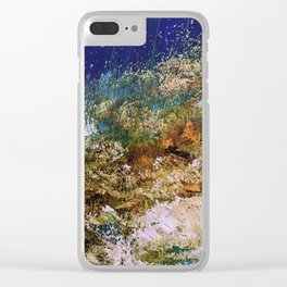 peninsula blue, monterey Clear iPhone Case