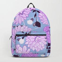 Soft calming lilac spring florals design Backpack