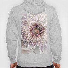 Flourish 2, Abstract Fractals Art Hoody