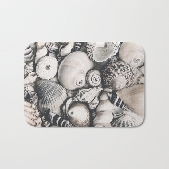Sea Shell Collection vintage style monochrome Bath Mat