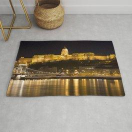 Budapest Chain Bridge And Castle Rug