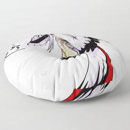 Grateful Crane by Nipponaisuki .....(Calligraphy)Hiroko Fukuda of Wakoshi Floor Pillow