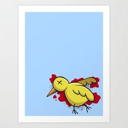 Yellow Dead Bird Art Print