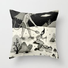 A Diabolical Act of Persuasion Throw Pillow