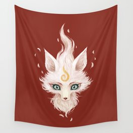 White Fox Wall Tapestry