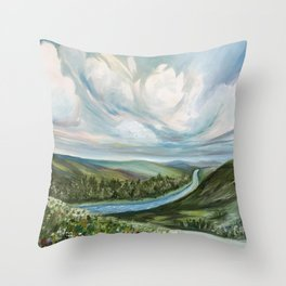 Tennessee River Throw Pillow