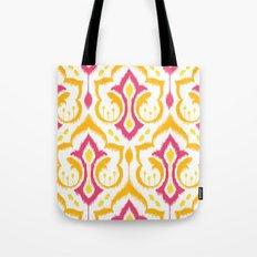 Ikat Damask - Berry Brights Tote Bag