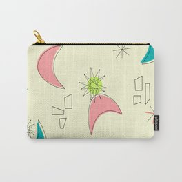 Boomerangs and Starbursts Yellow Carry-All Pouch