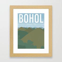 Chocolate Hills | Bohol Framed Art Print