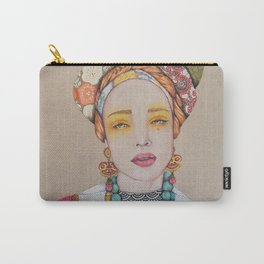 Original Mixed Media Illustration by Jenny Manno Carry-All Pouch