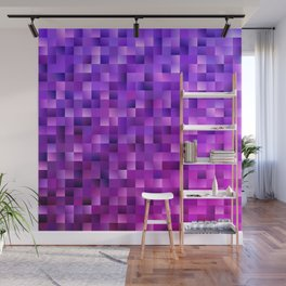Geometrical abstract square background Wall Mural